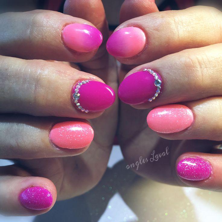 #leboudoirespacebeaute #ongleslaval #lavalnails #healtynails #naturalnails #multicolor
