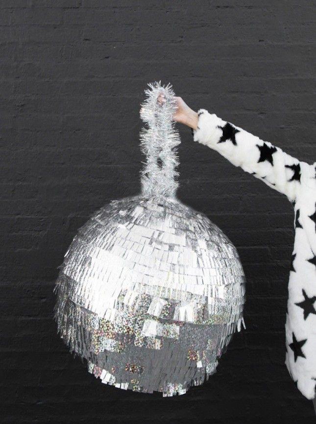 What to Make This Weekend: Disco Ball Piñata, #Goal Pillows + More! | Brit + Co