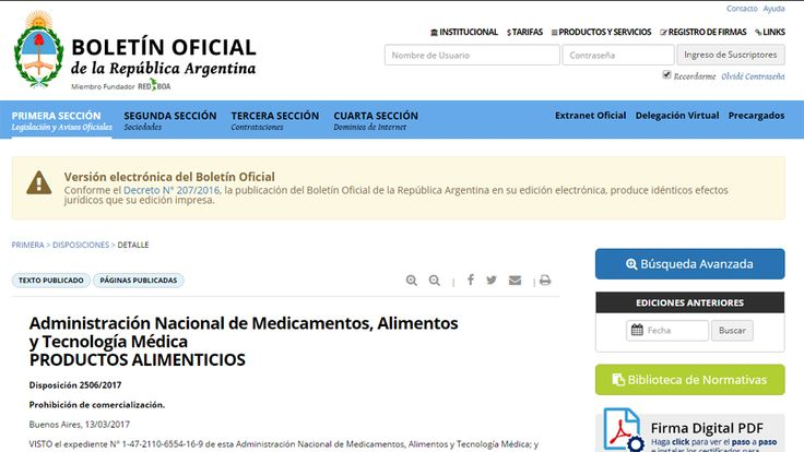 #La Anmat prohibió el uso y la comercialización de alimentos y cosméticos - LA NACION (Argentina): Urgente 24 La Anmat prohibió el uso y la…