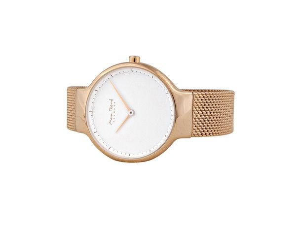 MR102 - Ladies Watch In Rose Gold With Rose Gold Mesh Band