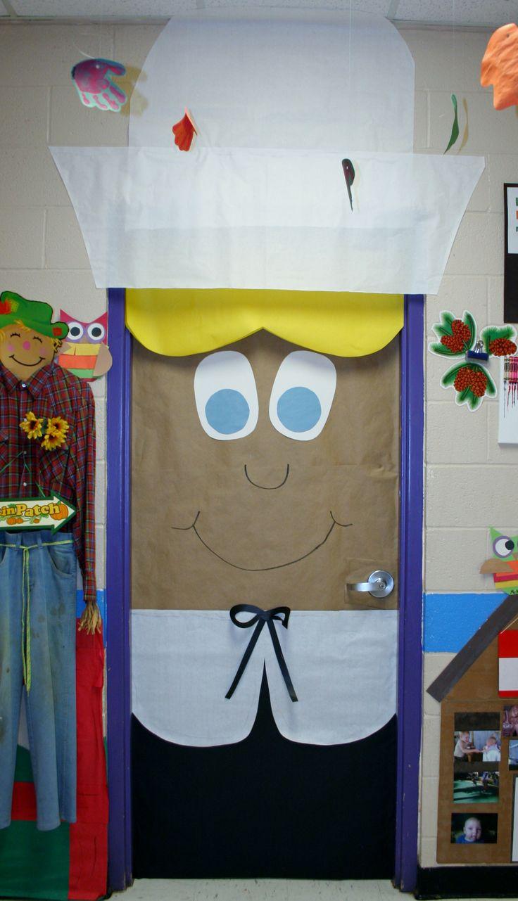 Classroom Pilgrim Girl Door Decoration | Classroom Crafts ...