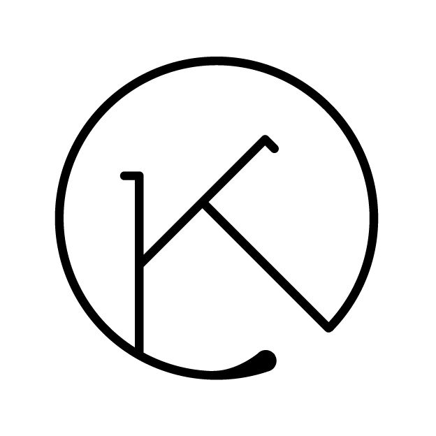 Simple Logo Design for Kerstin Tonscheck Marketing, The Initials K & T form a geometric Monogram based on 3 identical Lines. © ziska thalhammer