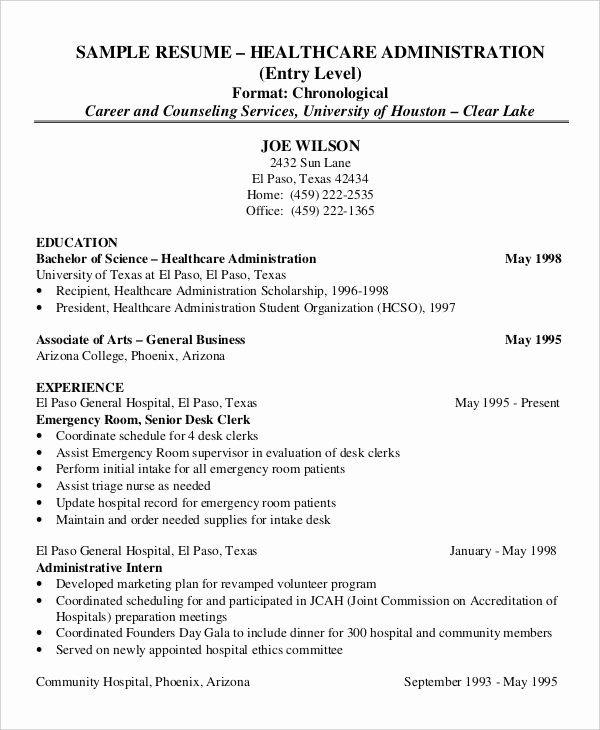 Healthcare Management Resume Examples Inspirational 50 Administration Resume Samples Pdf Do Resume Examples Resume Objective Examples Healthcare Administration