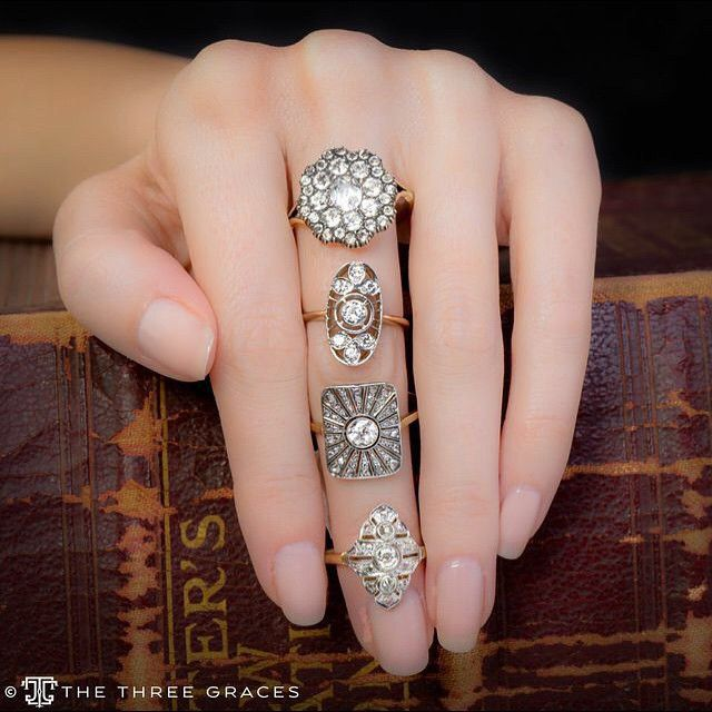 """Engagement rings with a non traditional """"twist"""". Would you say yes to any of these beauties?! #EngagementRing"""