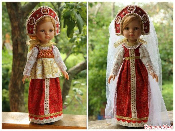 """Платье в народном стиле """"Красна девица"""" для Паолы Рейна"""