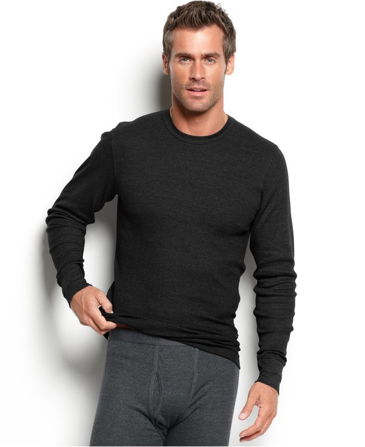13 alfani men 39 s underwear waffle knit thermal long Thermal t shirt long sleeve