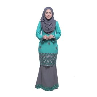 Maribeli Butik Spidey Modern Kurung - Green Turquoise, Grey Spidey Modern Kurung is the latest collections from MARIBELI BUTIK made of a very high quality, comfortable to wear, and very nice cotton material. With perfect tailor made. Measurements: XS - shoulder 13.5, chest 34, waist 32, hi... #bajukurung #bajukurungmoden