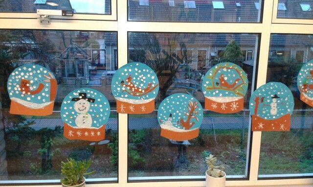 sneeuwbollen gemaakt door groep 4