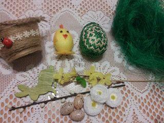 Twórczo Aktywnie Kreatywnie K.Lis: Zobaczcie jak prezentuje się zielone jajo karczoch...