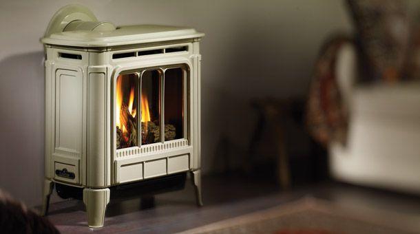 Hampton H27 medium stove (23000btu) in enamel seaside sand finish from Mountain Propane