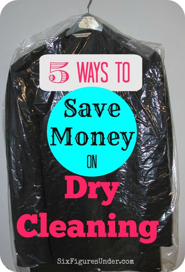 "My husband wears a ""dry clean only"" suit 6 days a week.  Dry cleaning can get really expensive!  Here are 5 ways that we save money on dry cleaning. Save money cleaning #SaveMoney homemade cleaning"