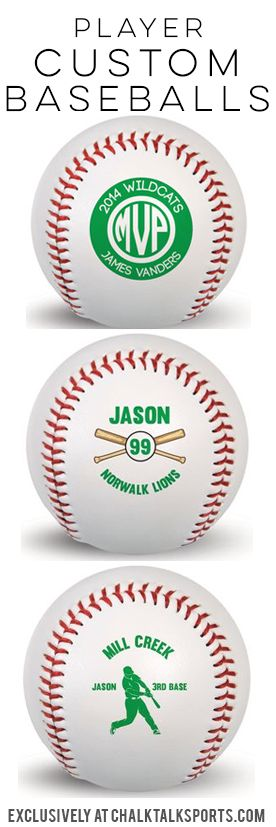 Our custom player baseballs make a great end-of-season gifts and are perfect for birthdays or holidays!