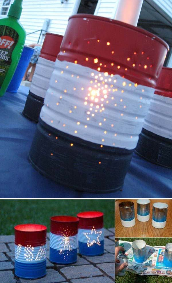 diy fourth of july centerpieces