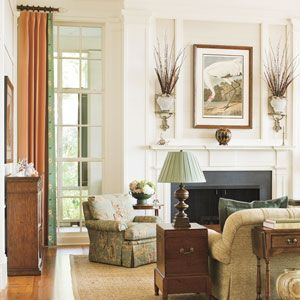 Love the paneled wall above the fireplace  --  9 Undeniably Southern Home Ideas | Windows | SouthernLiving.com