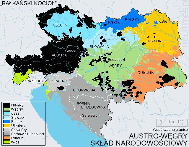 Austria-Hungary nationalities - Balkan Powder Keg