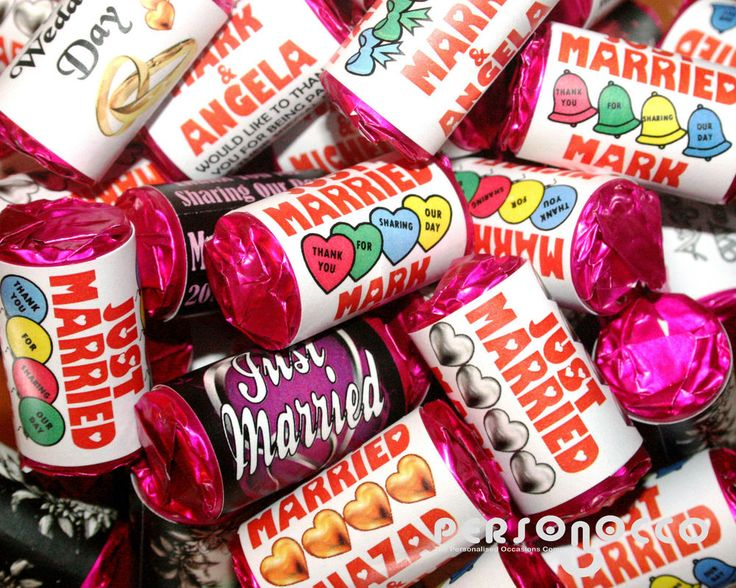 70 Personalised Mini Love Hearts Wedding Favours/Sweets FIRST NAMES Designs #Personocco