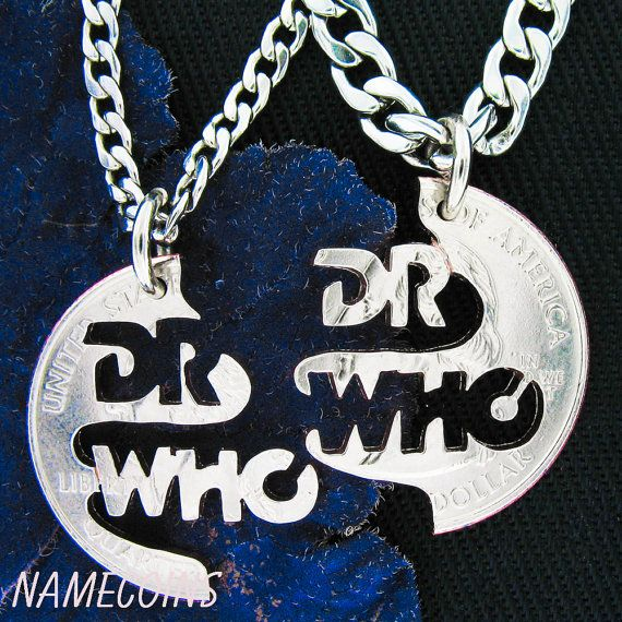 Doctor Who Jewelry Whovian Necklace set Romantic by NameCoins, $39.99
