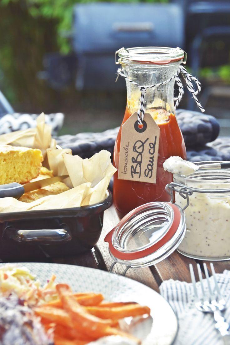 Rezepte für die BBQ-Party - amerikanisches Maisbrot, Texas-BBQ-Sauce & Limetten-Mayonnaise selbermachen | luziapimpinella.com