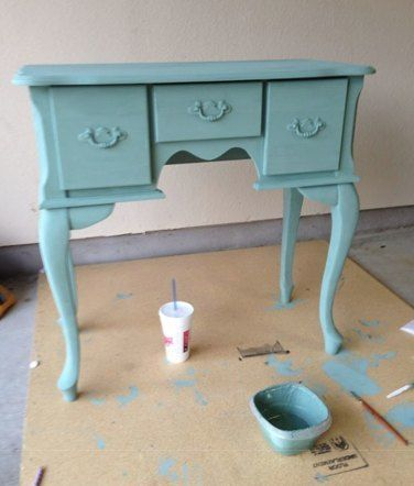 Homemade Chalk Paint recipe!  I was able to cover this cherry furniture without prepping by sanding.  I love this recipe!