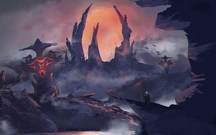 Descargar fondos de pantalla Sven, Windranger, batalla, los guerreros, el arte, la Dota 2