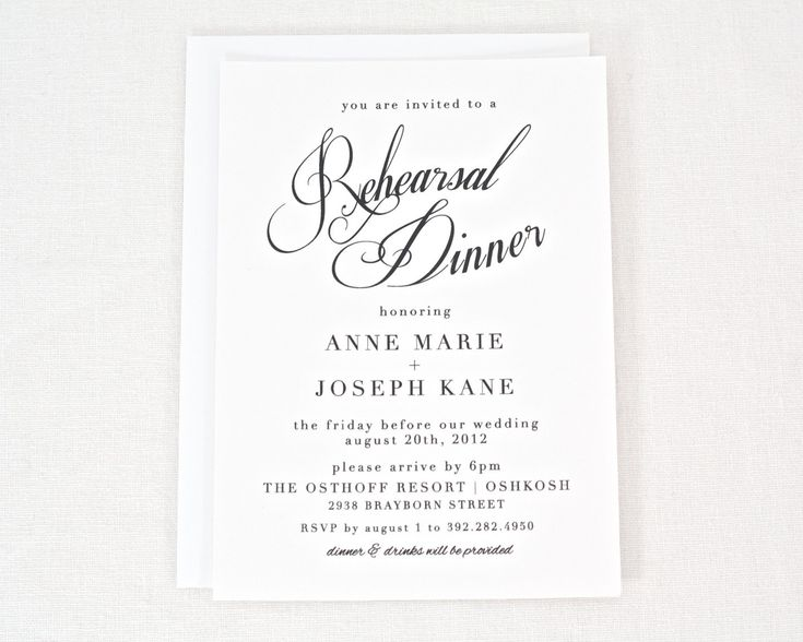 59 best Rehearsal dinner images on Pinterest Rehearsal dinner - free dinner invitation templates