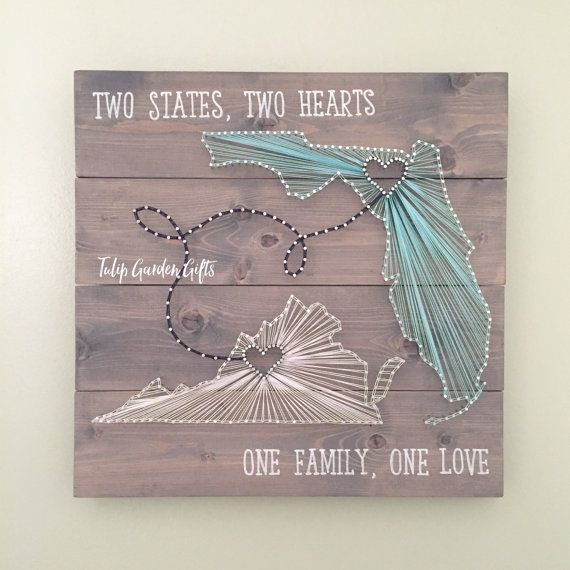 Two State String Art Adjoining State String Art State String