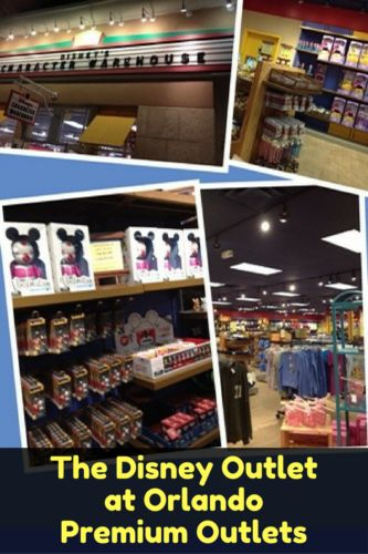 If you want to save on souvenirs, head to the Disney Outlet at Orlando Premium Outlets. This store carries discounted theme park merchandise.