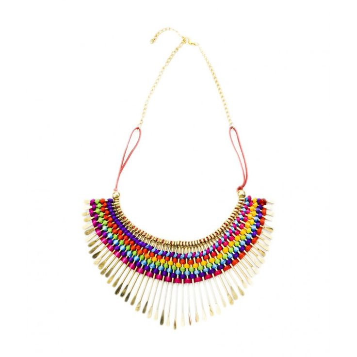 Anshul fashion Thread With Spike #Neckpiece In Gold Chain		 #onlineshopping http://goo.gl/hQkydO