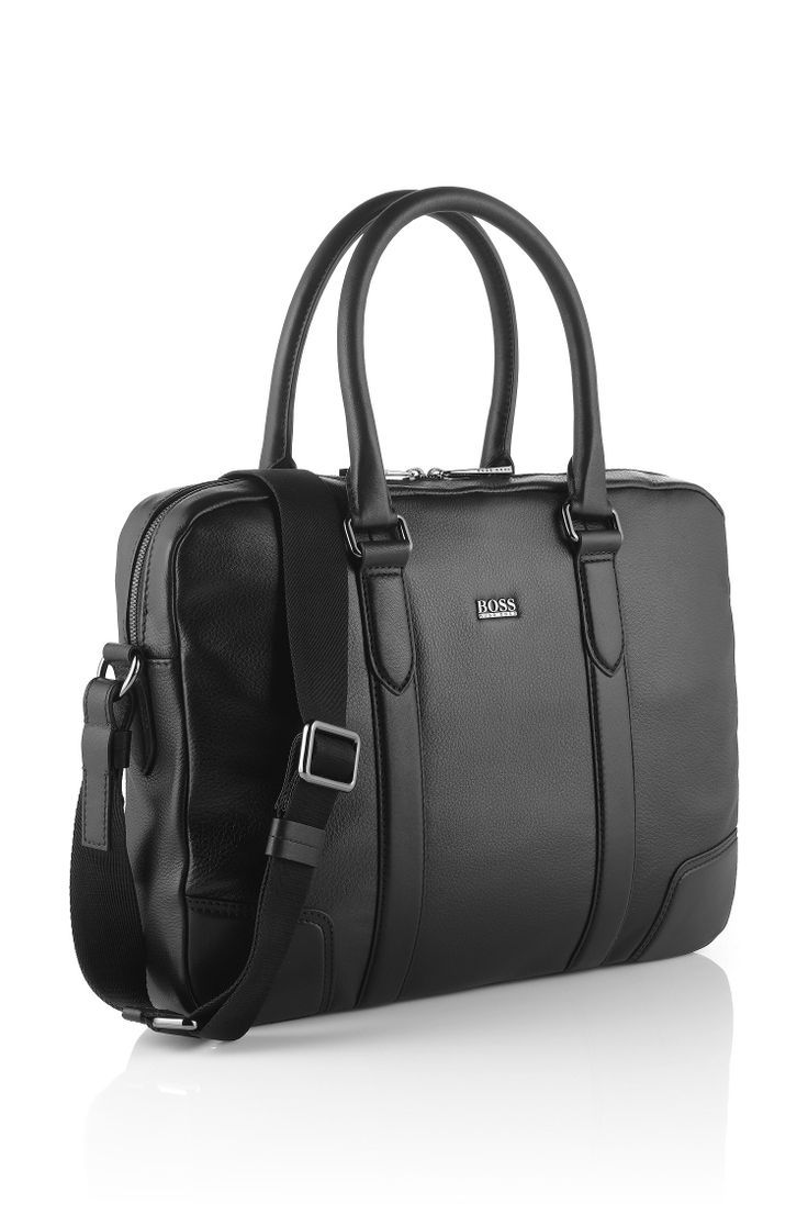 Boss Business Tasche Morval Aus Leder Modell Morval 50261682 Schwarz 399 Ledertasche Herren Taschen Arbeitstasche