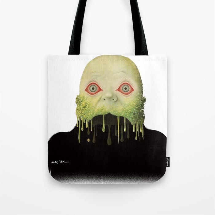 Buy Dripping Face Tote Bag by catalinanastase. Worldwide shipping available at Society6.com. Just one of millions of high quality products available.