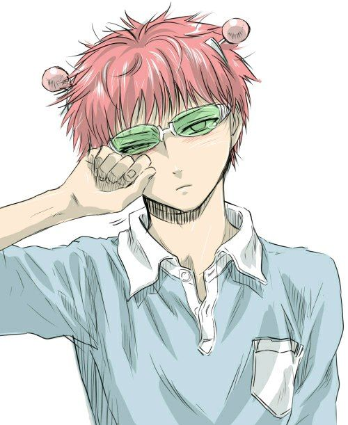 Saiki with emotions 'Δ'