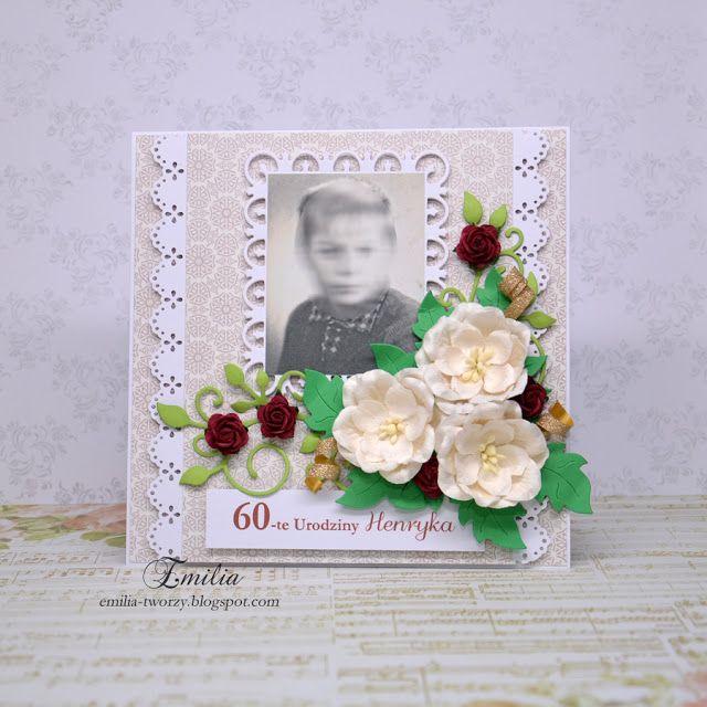 Emilia tworzy: Kartka urodzinowa ze zdjęciem/Birthday card with photo