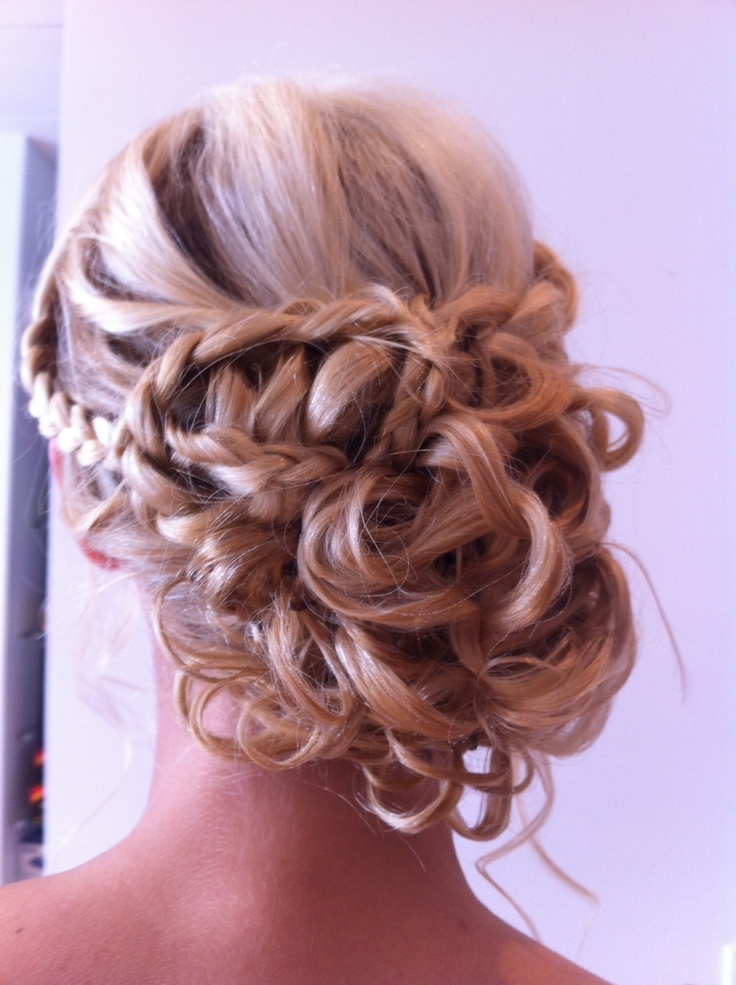 Braided Up-do hairstyle by Mina's Studio. I cannot wait to have this much hair and do things like this daily!