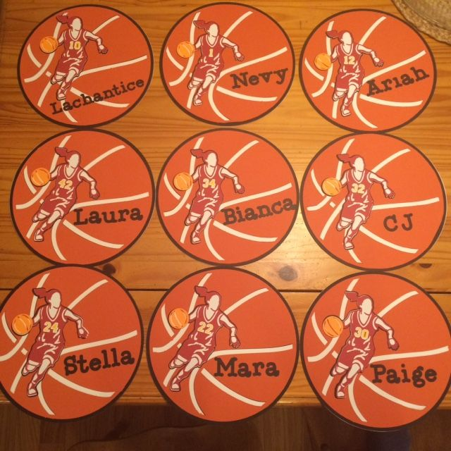 Hotel Door signs for girl's basketball tournament