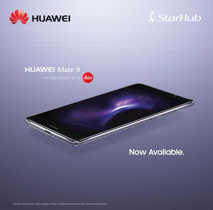 The Huawei Mate 9 offers exceptional sharpness. Its second-generation Leica Dual Camera renders images in unprecedented detail for images that take you from mere photography to artistry.  For more info, please visit http://tinyurl.com/mate9-starhub  Now available at all our outlets!