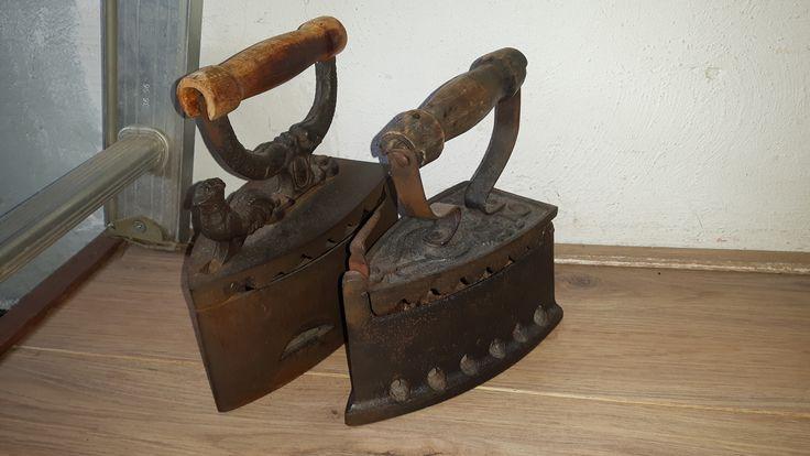 Oude strijkijzers, eigen collectie