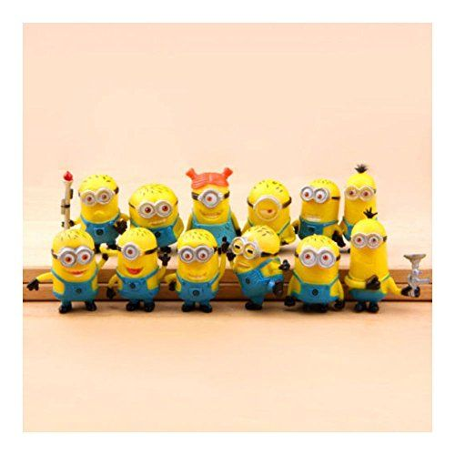 New Set of 12Pcs Despicable me 2 Cute Minions Movie Character Figures Doll Toy @ niftywarehouse.com #NiftyWarehouse #DespicableMe #Movie #Minions #Movies #Minion #Animated #Kids