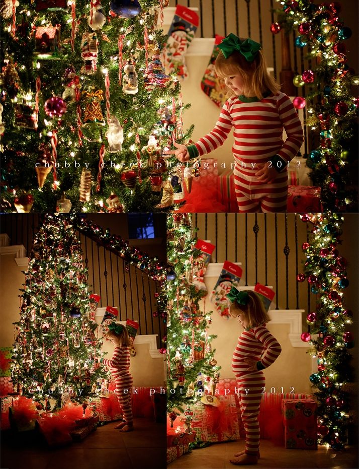 Taking great pictures by the Christmas tree ...chubby cheek photography #photography #children #Christmas