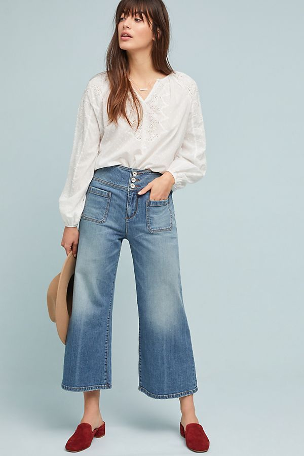 6efb068a6301 Slide View  1  Pilcro Ultra High-Rise Cropped Wide-Leg Jeans