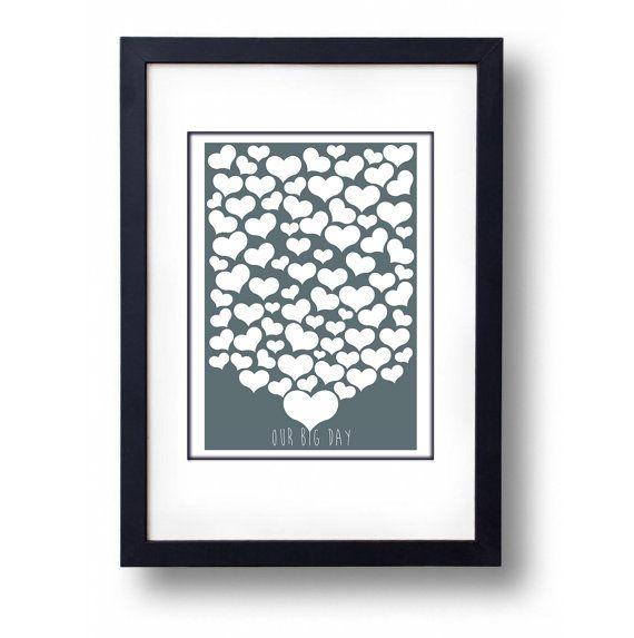 Heart Wedding Guest Book Alternative  A2 by mammothcreativeworks