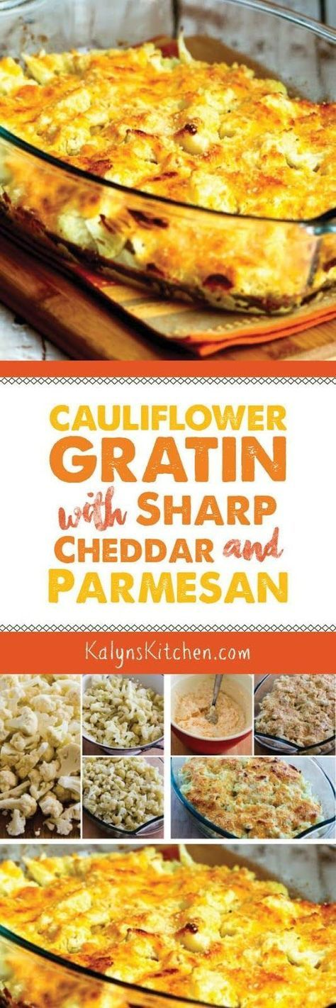 Cauliflower Gratin with Sharp Cheddar and Parmesan is an amazing and ...