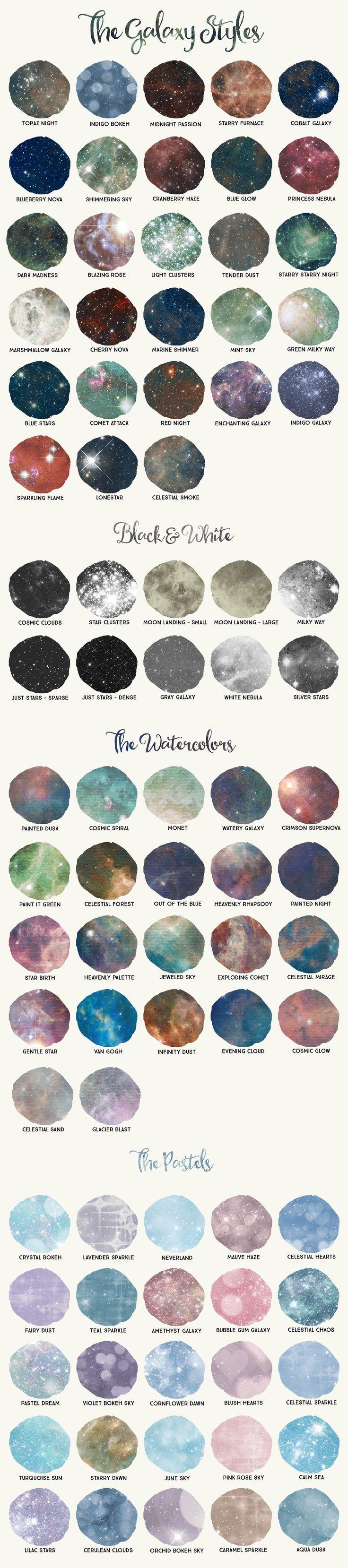Galaxy Design Kit for Illustrator by Alaina Jensen on @creativemarket