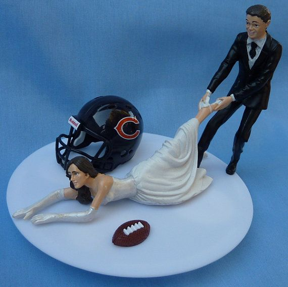 Wedding Cake Topper Chicago Bears G Football Themed w/ by WedSet, $59.99