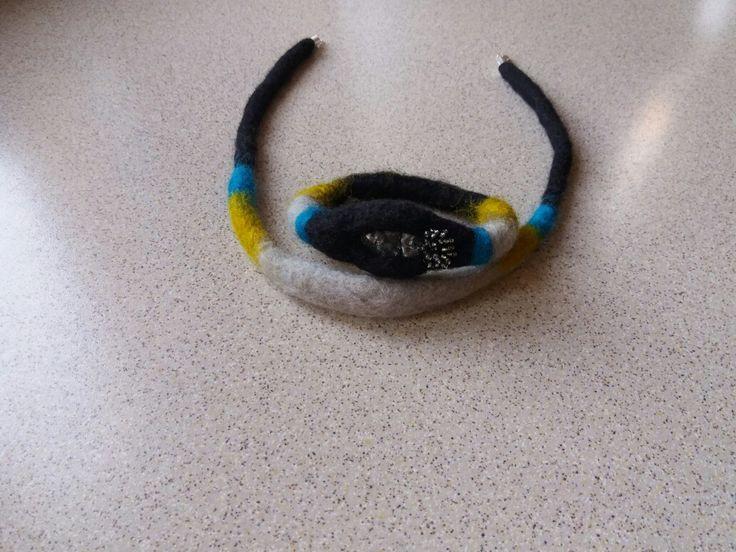 Filcowanie; Naszyjnik i bransoletka filcowane metodą na mokro i igłami