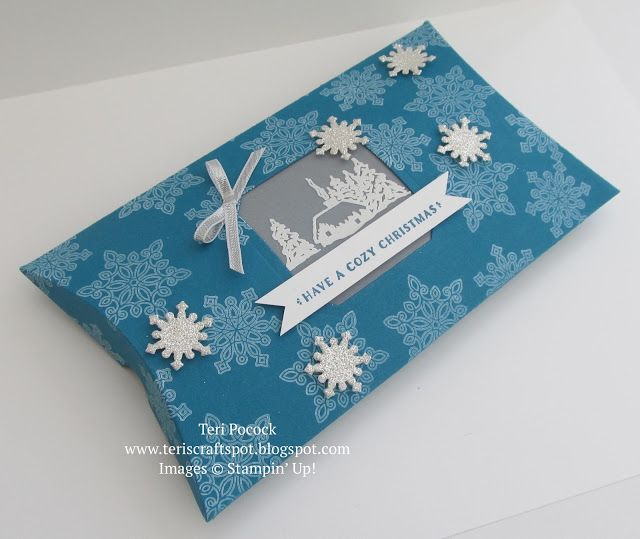 Stampin' Up! - Extended Pillow Box - with Cozy Christmas .... Teri Pocock - http://teriscraftspot.blogspot.co.uk/2015/08/extended-pillow-box-with-cozy-christmas.html