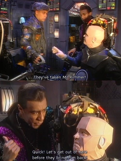 Cat says what everyone was thinking. I love Rimmer, though :)
