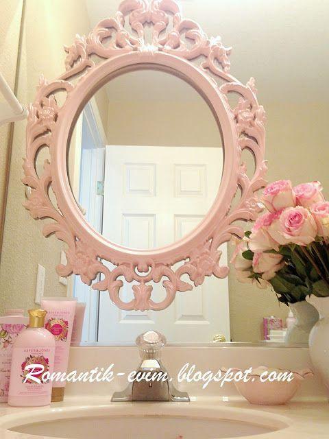 My Shabby Chic Home ~ Romantik Evim ~Romantik Ev Pembe banyo