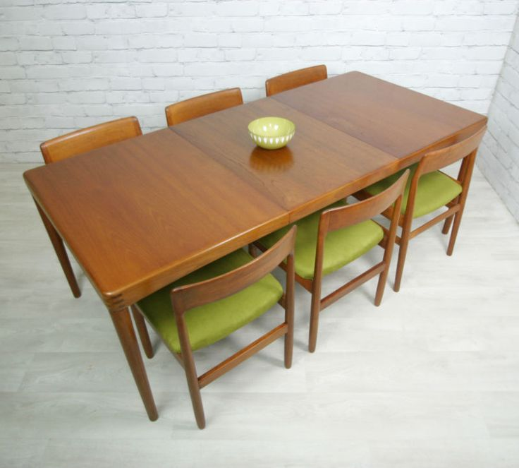 danish teak retro vintage mid century extending danish dining table 1950s 60s - Scandinavian Teak Dining Room Furniture