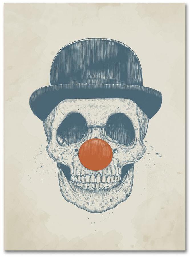 "Trademark Fine Art 19 in. x 14 in. ""Dead Clown"" by Balazs Solti Printed Canvas Wall Art"
