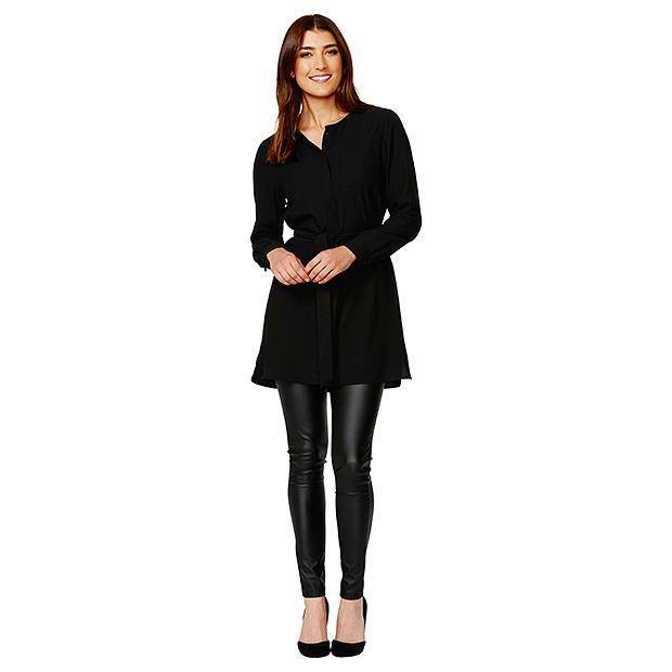 Longline Shirt - Black | Target Australia